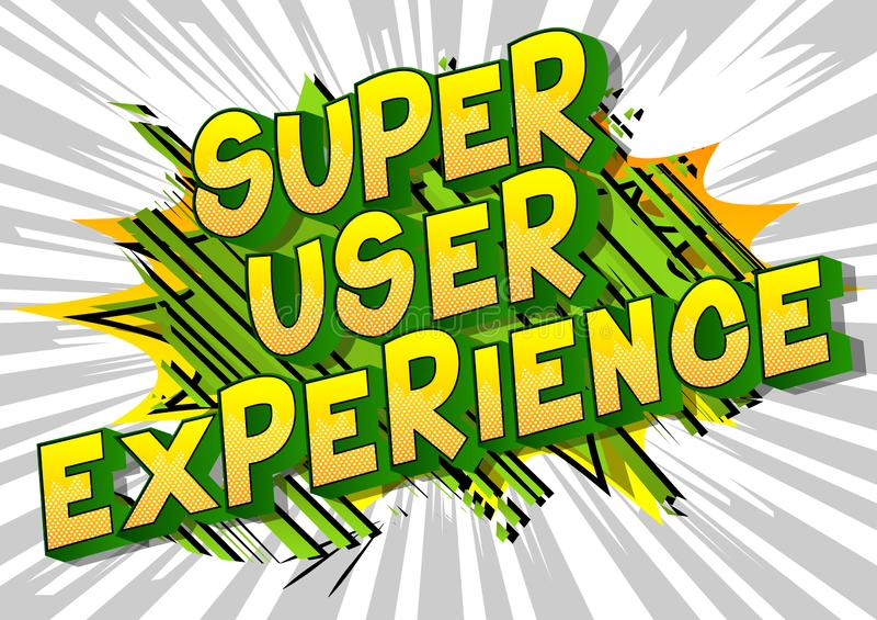 Опыт суперпользователя - слова стиля комика бесплатная иллюстрация