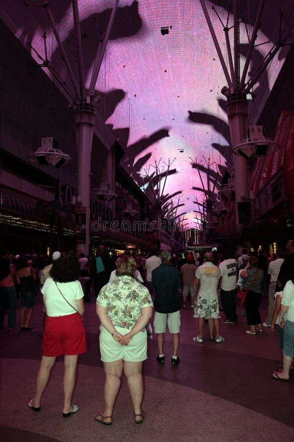 Опыт улицы Fremont, Las Vegas, США стоковая фотография