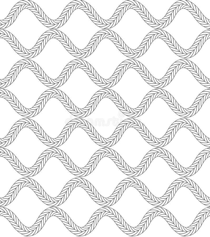 Оплетки черной отметки волнистые иллюстрация вектора