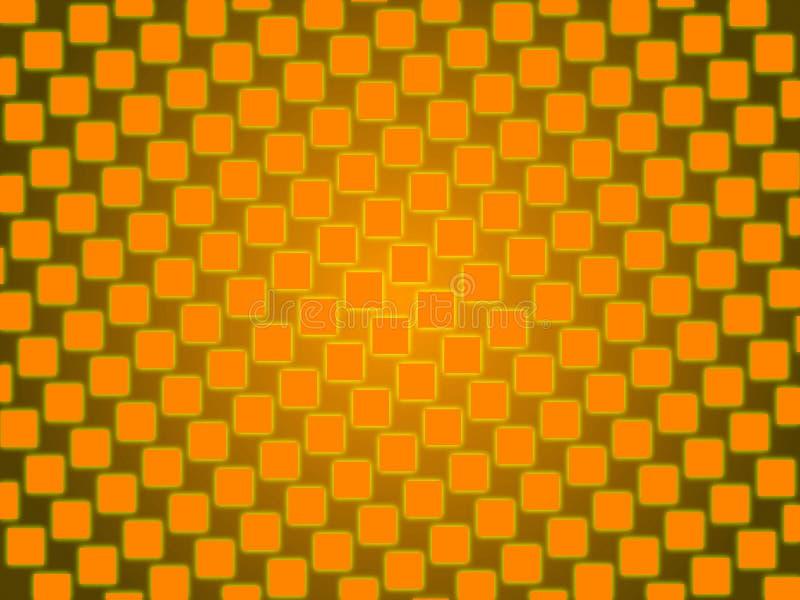 Оранжевая абстрактная предпосылка, квадраты золота бесплатная иллюстрация