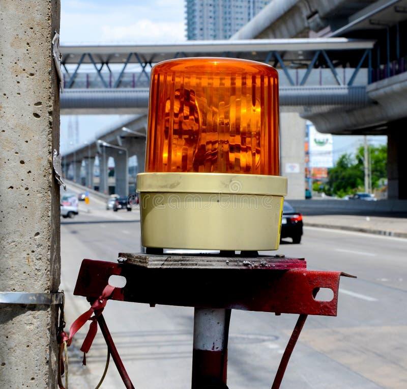 Оранжевая лампа сирены стоковое изображение rf