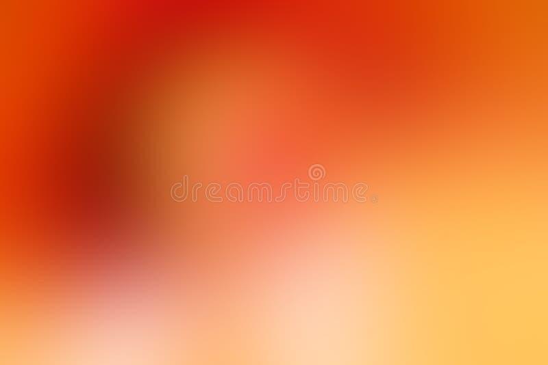 Оранжевая внушительная абстрактная предпосылка нерезкости для веб-дизайна иллюстрация штока