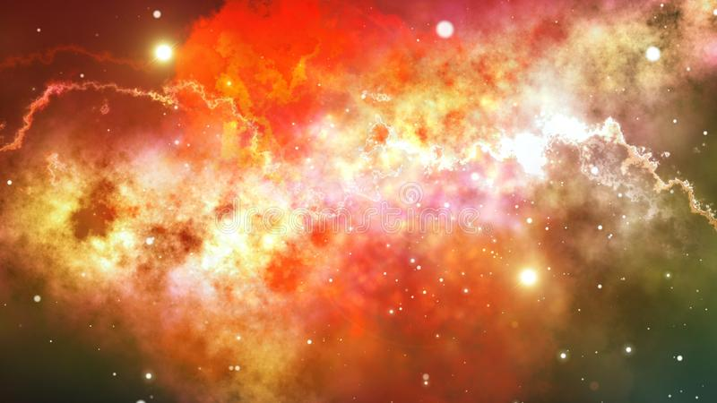 Оранжевая иллюстрация заволакивания звезды пламени иллюстрация вектора