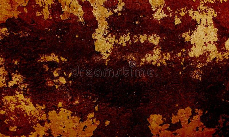 Оранжевая и коричневая затеняемая предпосылка grunge текстурированная стеной стоковое изображение