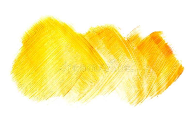 Оранжевая картина brushstroke акварели изолированная на белой предпосылке иллюстрация вектора
