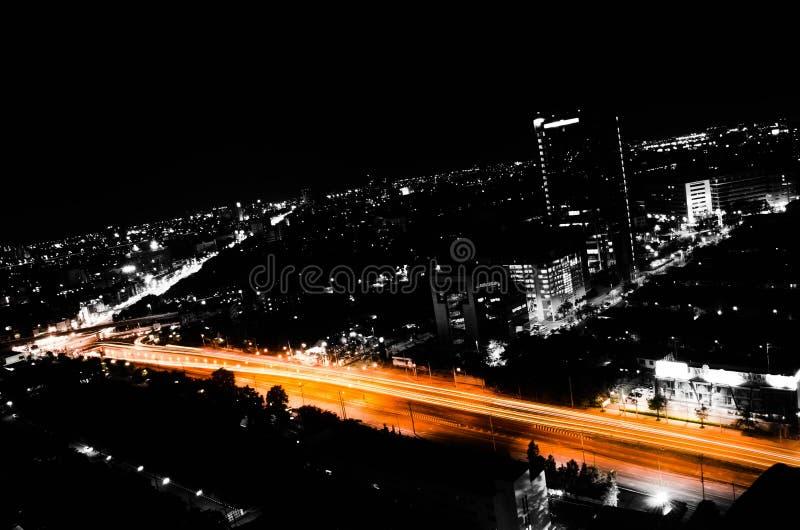 Оранжевая дорога стоковое изображение rf