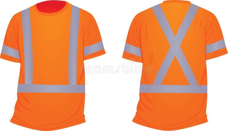 Оранжевая отражательная футболка иллюстрация штока