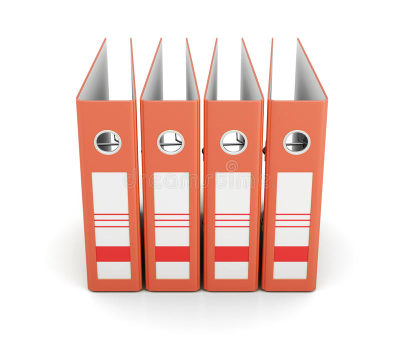 Оранжевая папка офиса, вид спереди изолированная на белой предпосылке 3 бесплатная иллюстрация