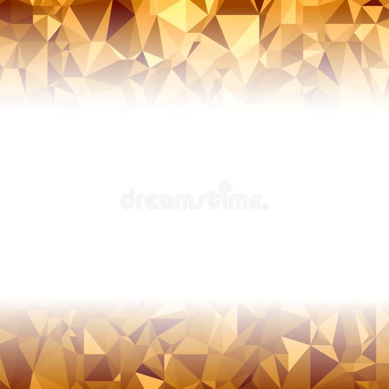 Оранжевая полигональная предпосылка картина триангулярная Низкая поли текстура Дизайн абстрактной мозаики современный Стиль Origa иллюстрация вектора