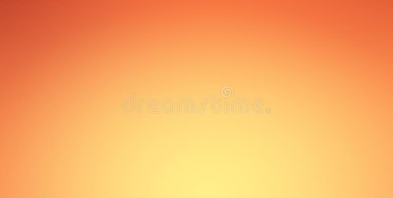 Оранжевая предпосылка градиента с блеском фары на границе центра и виньетки Шаблон вебсайта представления бесплатная иллюстрация