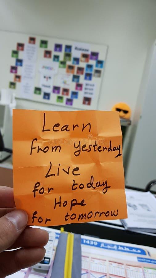 Оранжевая премудрость воодушевляя учит надежду стоковые фотографии rf