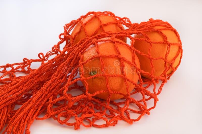 Оранжевая сумка строки стоковое фото rf