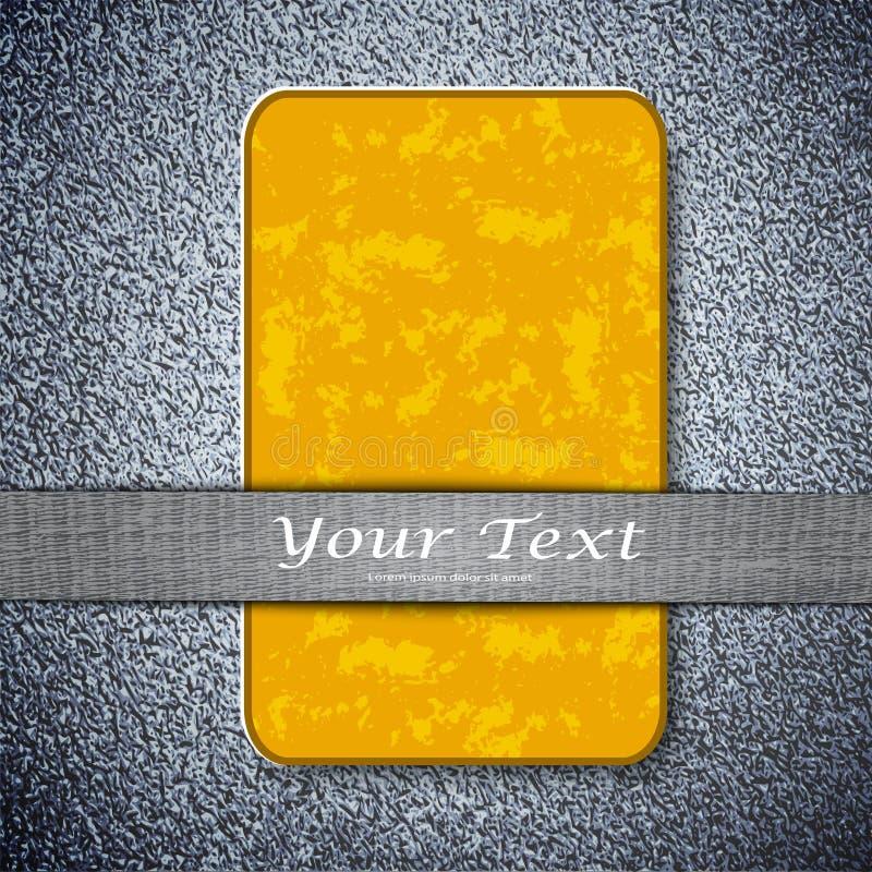 Download Оранжевая текстура карточки на предпосылке металла Иллюстрация штока - иллюстрации насчитывающей конструкция, знамена: 41661870