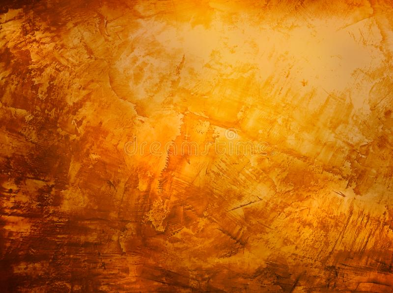 Оранжевая текстура grunge ржавой предпосылки стены стоковое изображение