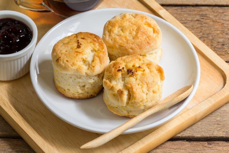 Оранжевое английское печенье стоковое фото