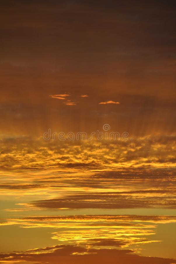 Оранжевое небо стоковое фото rf