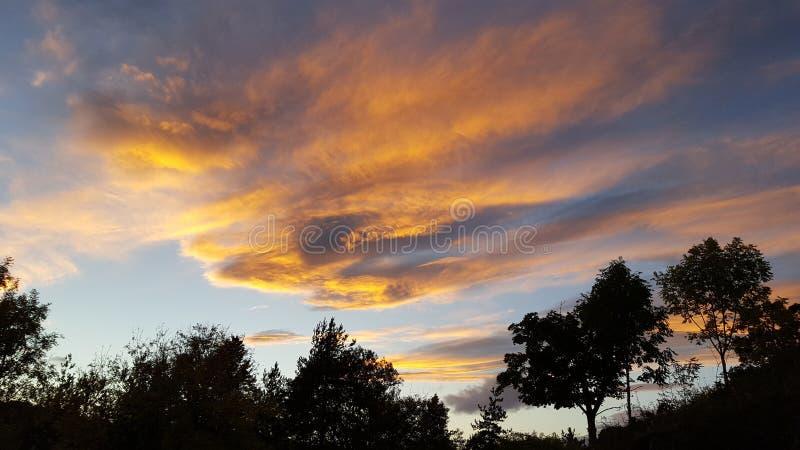 Оранжевое небо 2 стоковая фотография rf