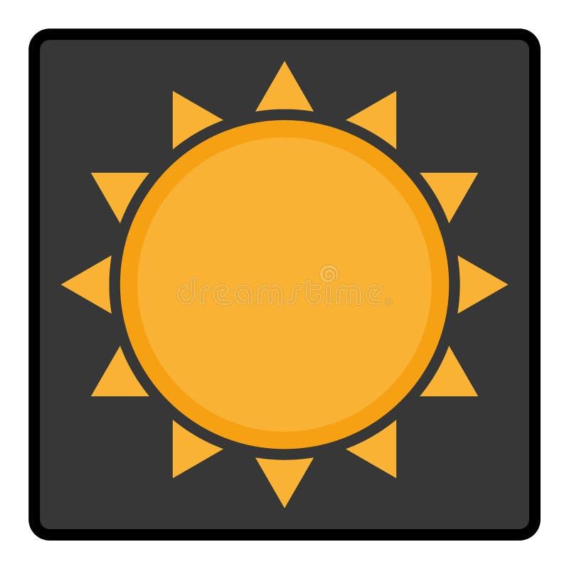 Оранжевое Солнце со значком suumer значка лучей Отряд значка лета серый с оранжевым вектором eps10 солнца иллюстрация штока