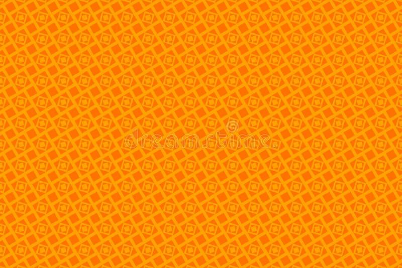 Оранжевые абстрактные предпосылка и квадраты иллюстрация штока