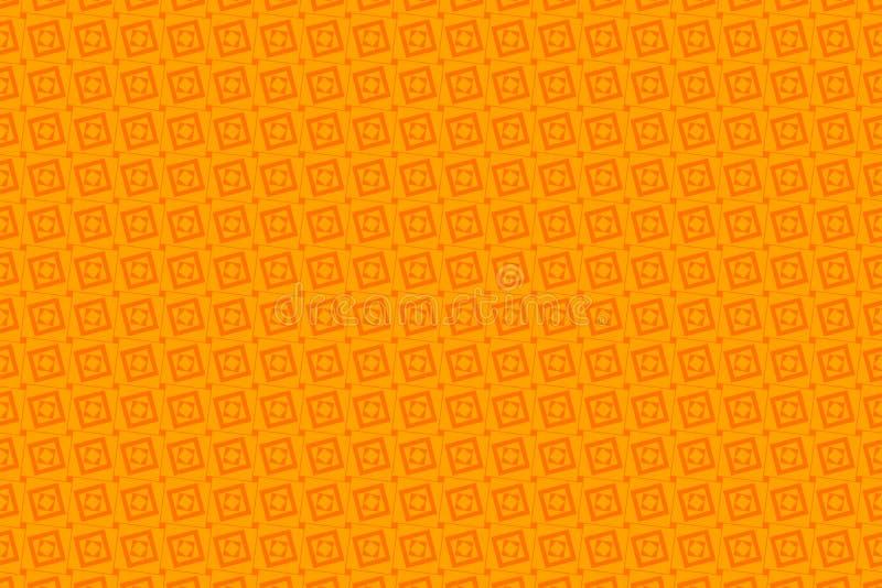 Оранжевые абстрактные предпосылка и квадраты бесплатная иллюстрация