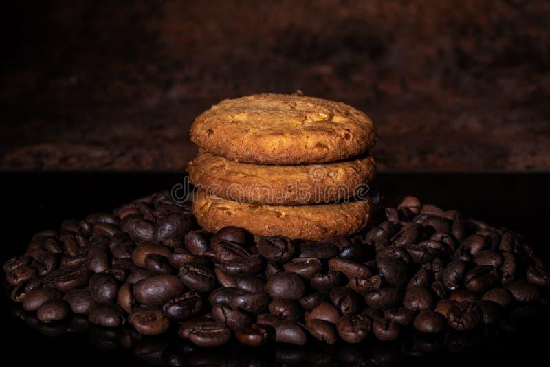 Оранжевые печенья Crinkle стоковая фотография