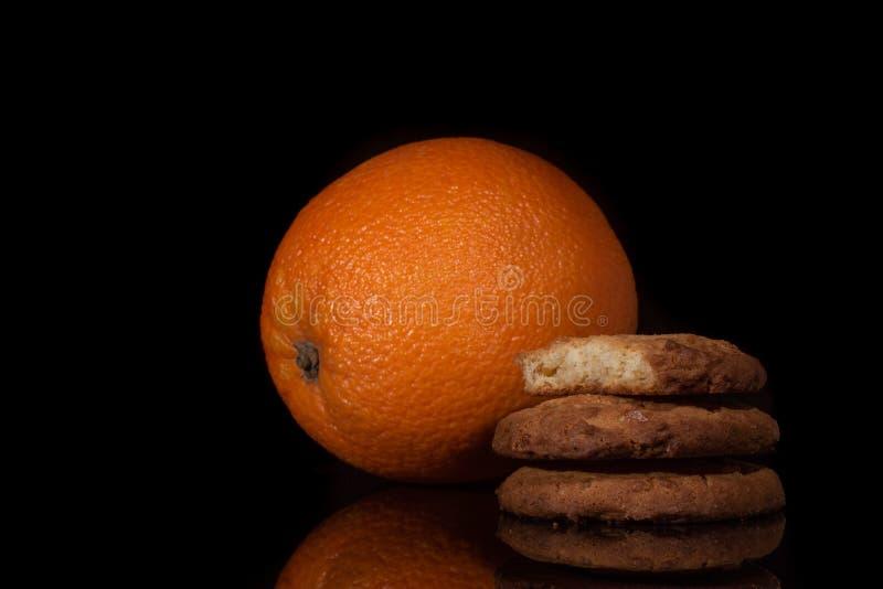Оранжевые печенья Crinkle стоковое фото rf