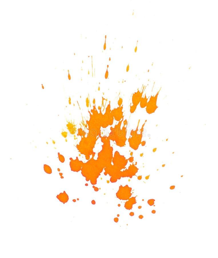 Оранжевые чернила брызгают стоковая фотография rf