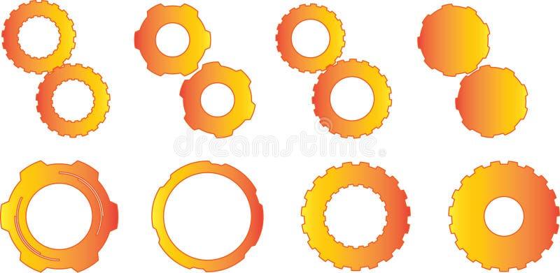 Оранжевые шестерни градиента стоковые фото