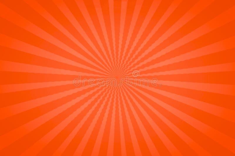 Оранжевые яркие тоны в потехе Starburst бесплатная иллюстрация