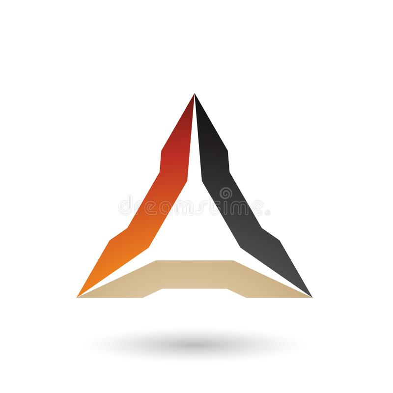 Оранжевый беж и черная спиковая иллюстрация вектора треугольника иллюстрация вектора