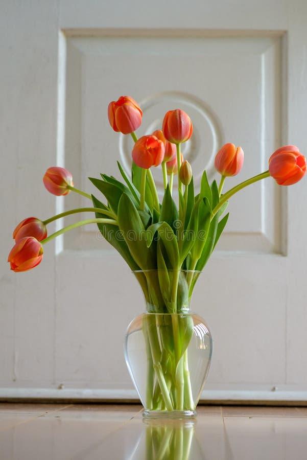Оранжевый букет тюльпана стоковые изображения