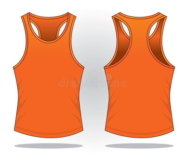 Оранжевый вектор верхней части танка для шаблона иллюстрация вектора