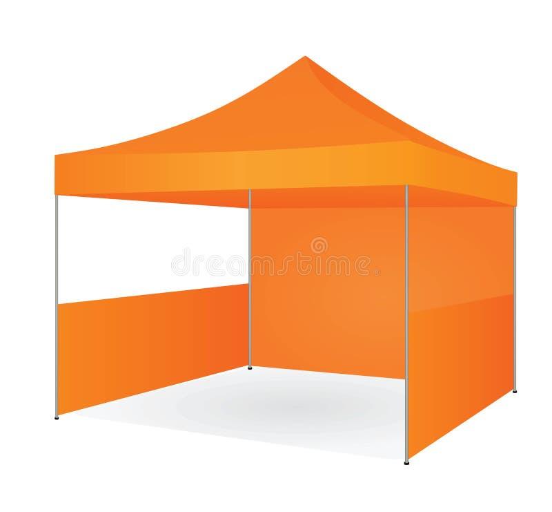 Оранжевый выдвиженческий шатер бесплатная иллюстрация