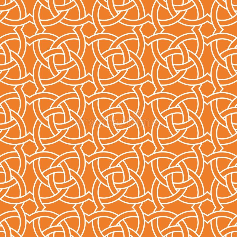 Оранжевый геометрический орнамент картина безшовная бесплатная иллюстрация