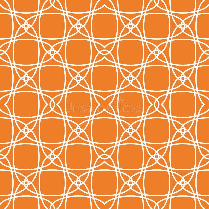 Оранжевый геометрический орнамент картина безшовная иллюстрация вектора