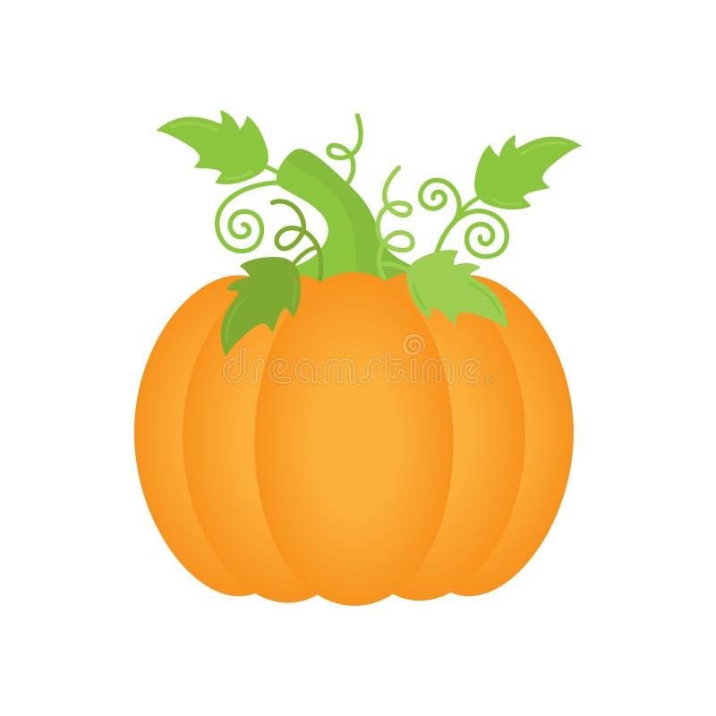 Оранжевый значок иллюстрации вектора тыквы бесплатная иллюстрация