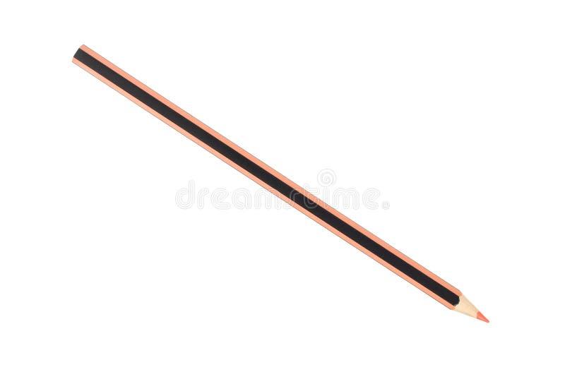 Оранжевый карандаш на белизне стоковые изображения rf