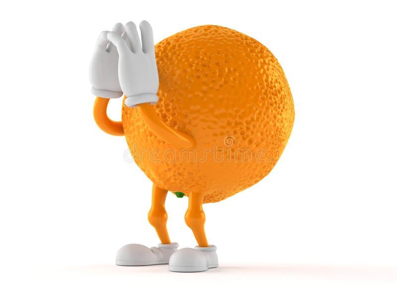 Оранжевый кричать характера иллюстрация вектора