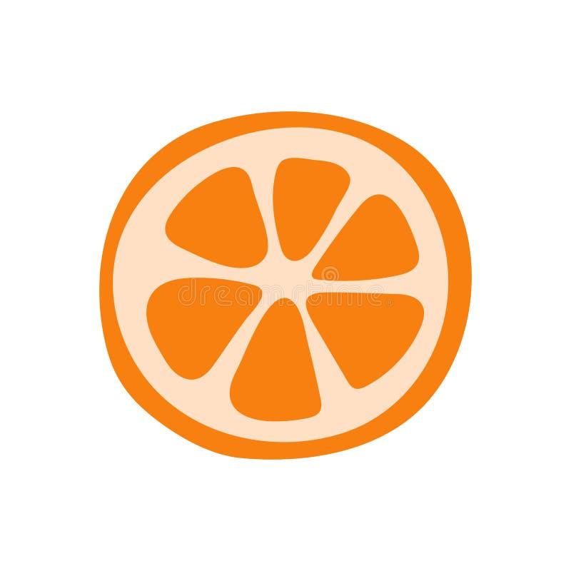 Оранжевый плод Цитрус мандарина Эскиз вектора doodle руки вычерченный r Tangerine иллюстрация вектора