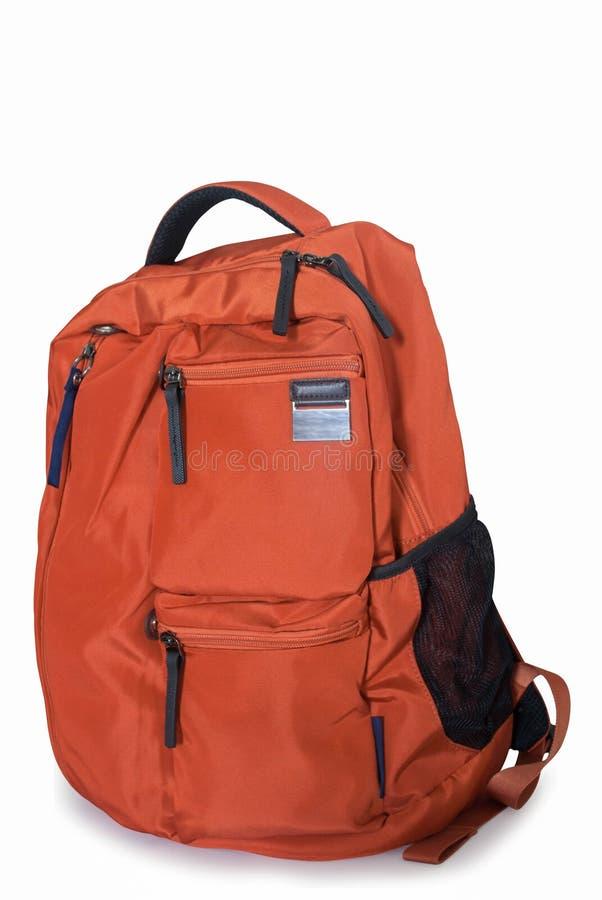 Оранжевый рюкзак стоковая фотография