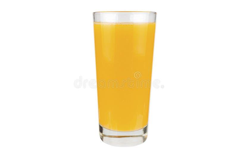 Оранжевый сок, изолированный на белом фоне стоковое изображение