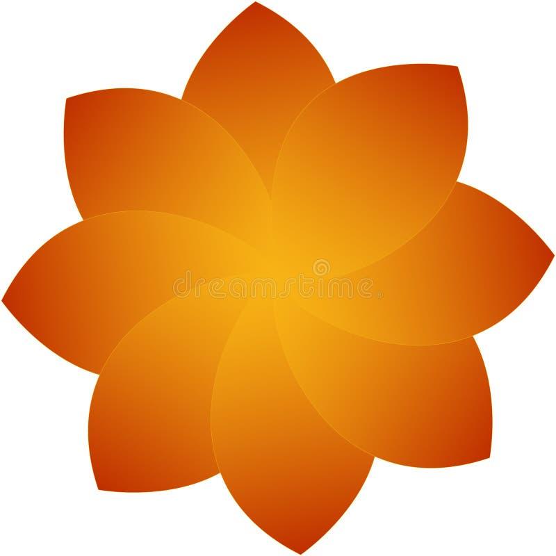 Оранжевый цветок красив стоковое изображение rf