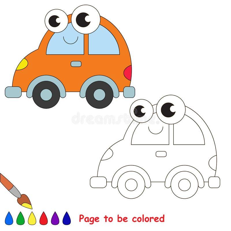 Оранжевый шарж автомобиля Страница, который нужно покрасить иллюстрация штока