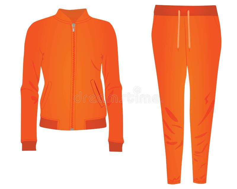 Оранжевый tracksuit женщин бесплатная иллюстрация