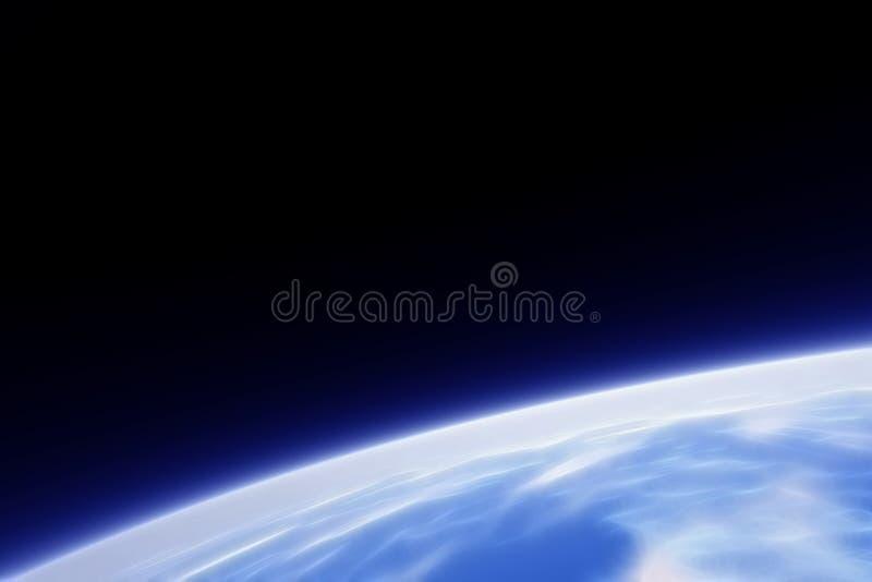 орбита фрактали земли иллюстрация вектора