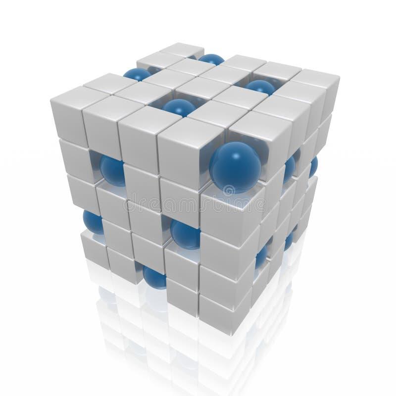 организационная структура иллюстрация вектора