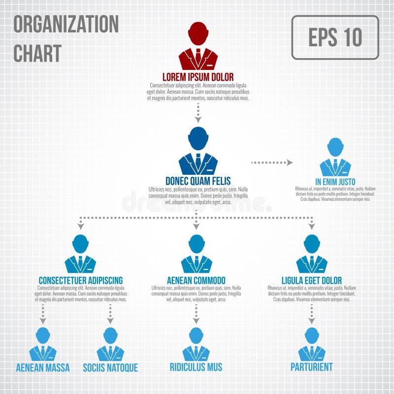 Организационная структура infographic иллюстрация вектора