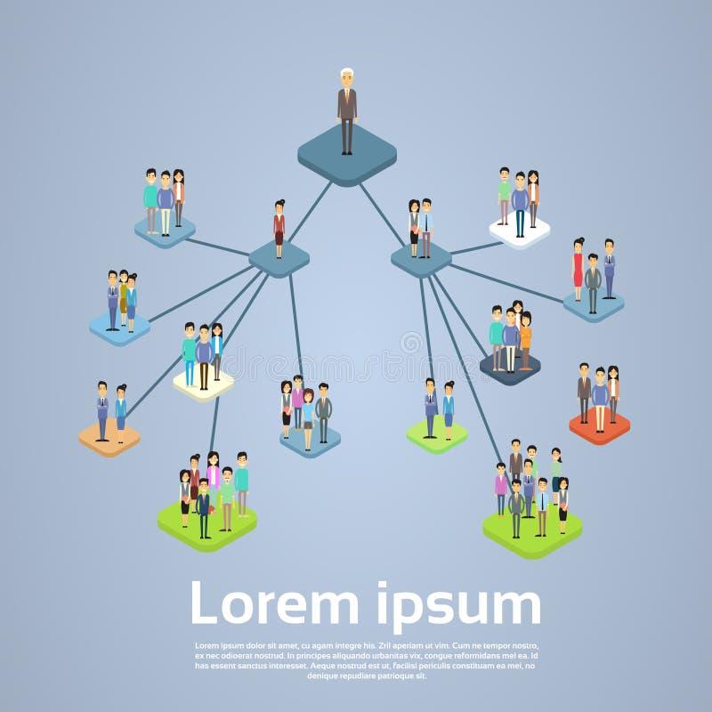 Организационная схема управления структуры деловой компании иллюстрация вектора