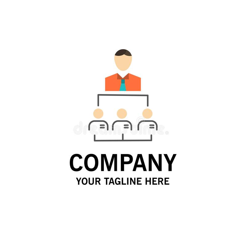 Организация, бизнес, человек, руководство, шаблон бизнес-эмблемы управления Плоский цвет бесплатная иллюстрация