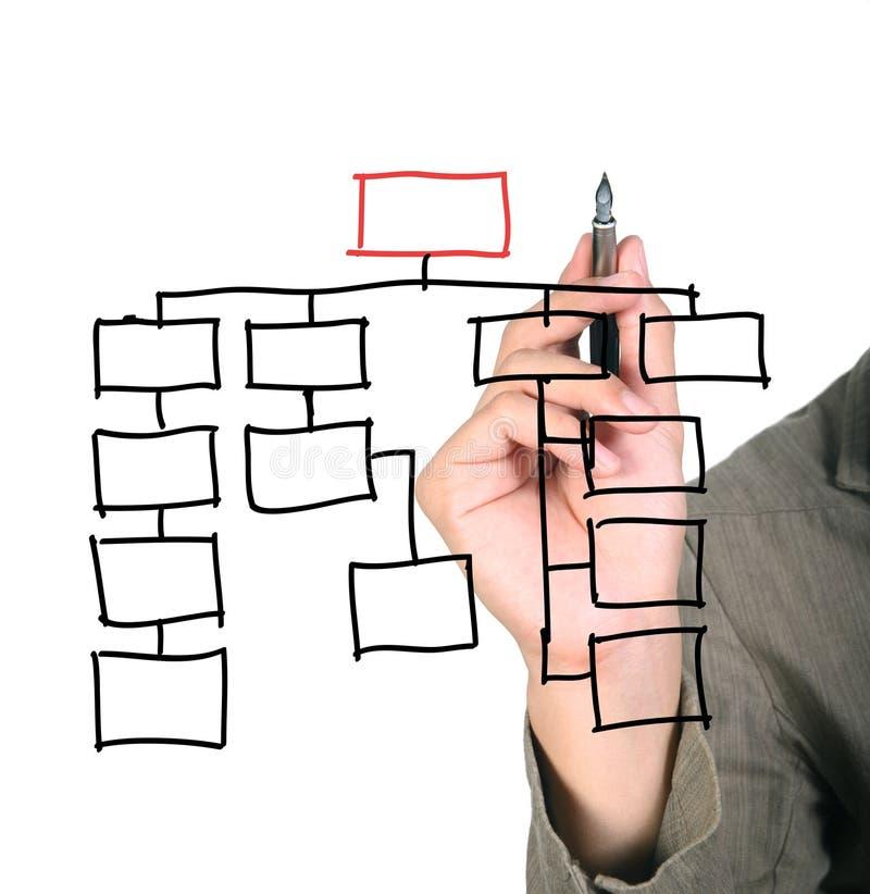 организация диаграммы иллюстрация вектора